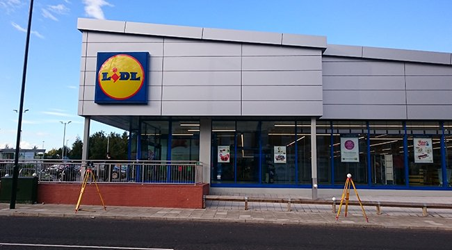 Topographic survey for Lidl UK