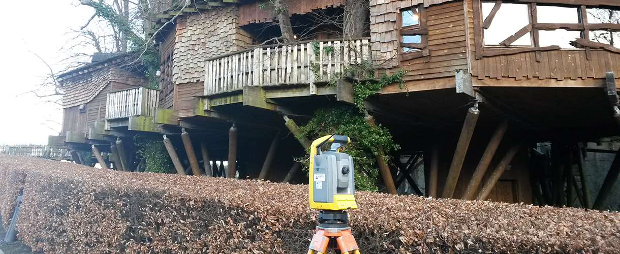 Surveying at Alnwick Garden, Northumberland